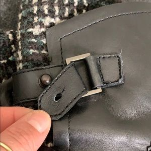 Guess Shoes - Guess Black Leather Moto Boots Size 36